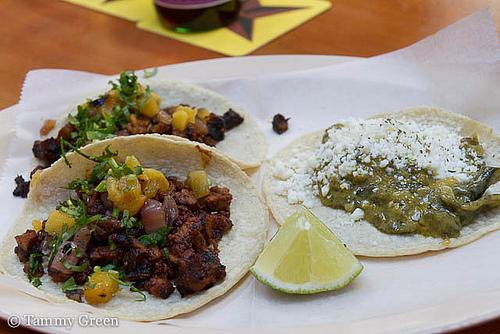 Tacos Al Pastor & Tacos De Rajas De Poblano