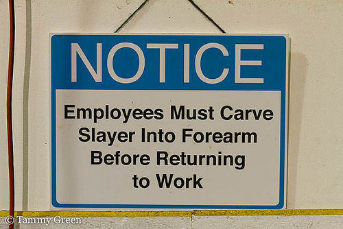 Slayer Notice