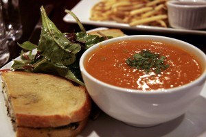 There's no better comfort food on a cold day than tomato soup and a grilled cheese sandwich.