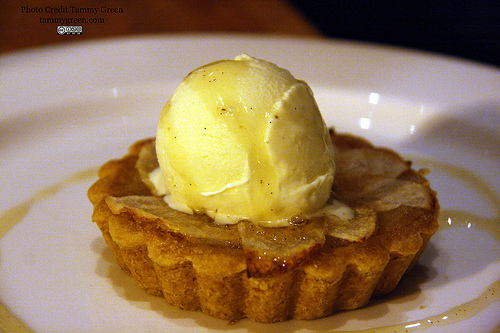 The pear tart is delicious!