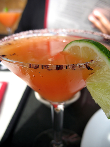 Try a blood orange margarita from Frontera Grill.