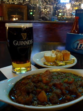 Irish stew and a Black Velvet is a great way to fight the February chill.