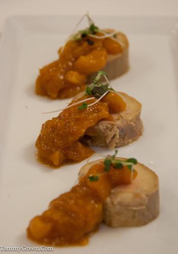Torchon of foie gras.