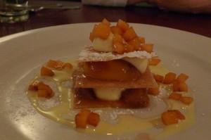 Peach napoleon