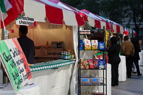 Food vendors at Fiera Italiana