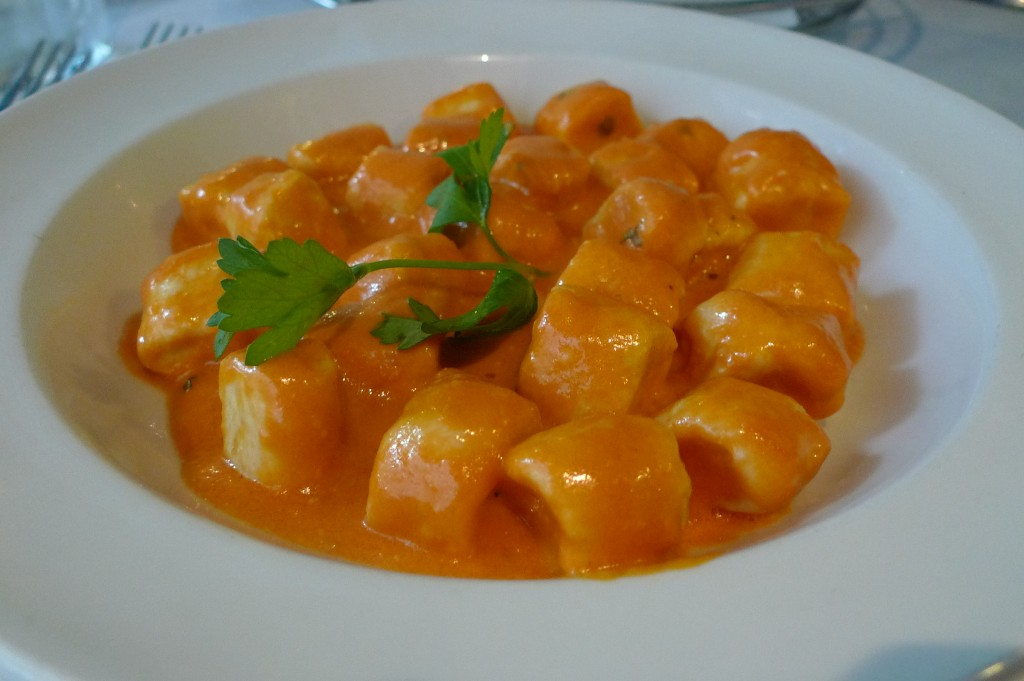 Gnocchi with vodka sauce