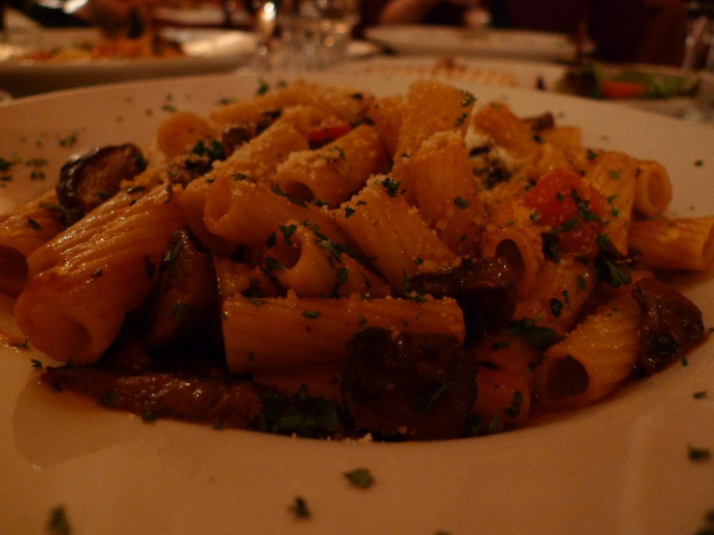 Mushrooms and Rigatoni