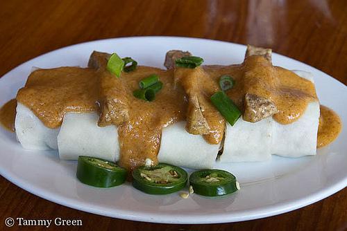 Opart Thai House | Peanut Sauce Spring Rolls