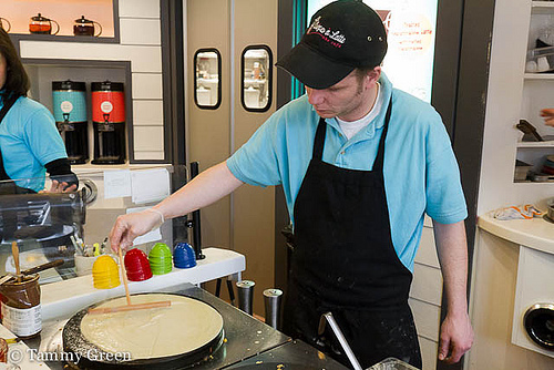 Crêpes à Latte | Making crepes
