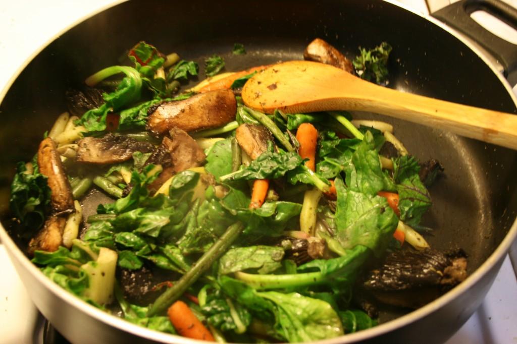 veg in a pan
