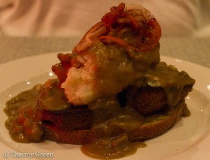 Open-face Seitan Meatloaf sandwich | Northdown Cafe & Tap Room