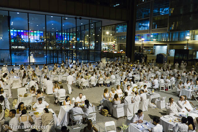 Dinner in White at Daley Plaza