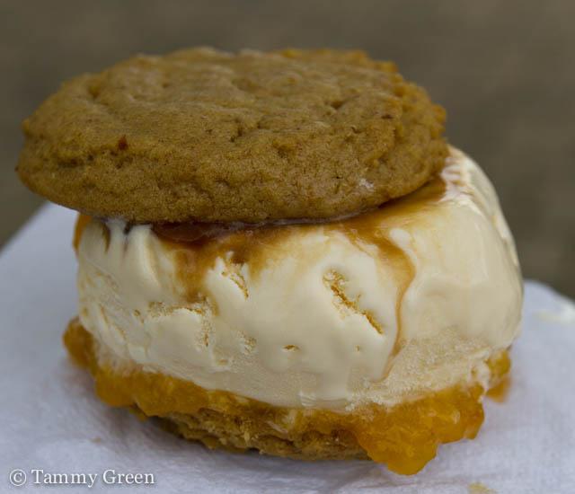 Peach Ice Cream Sandwich