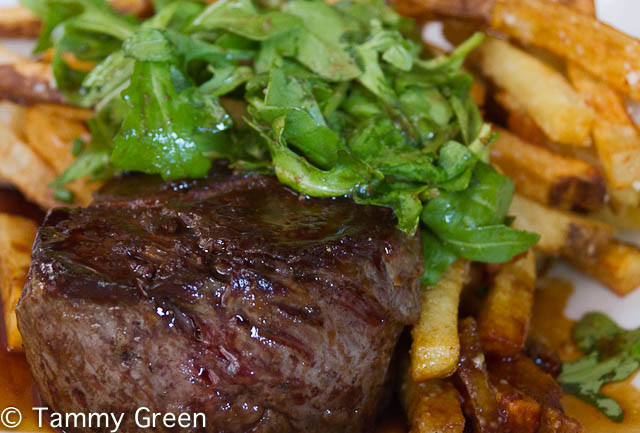 Hanger Steak and truffled frites from Bistronomic