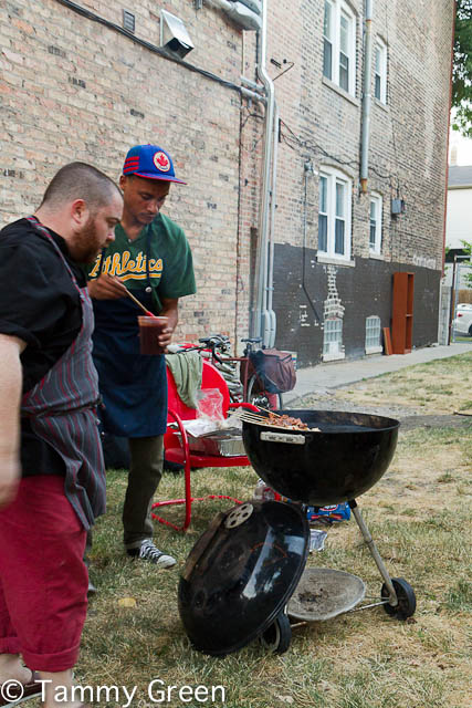 Founder Jeremy mans the grill