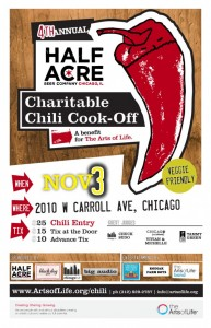 Arts of Life Chili Cook-Off Poster