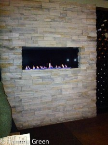 Roaring Fire at Table Donkey and Stick