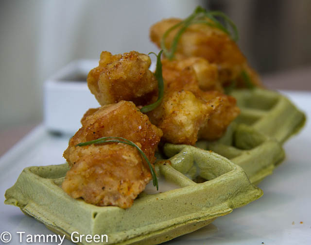 Chicken and Green Tea Waffles | Jellyfish