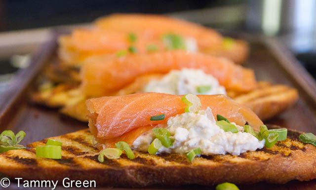 Smoked Salmon Crostini | Gino's East